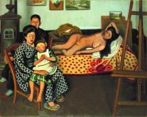 安井 曾太郎「画室」1926年